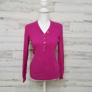 Tory Burch Magenta Wool Cashmere Sweater